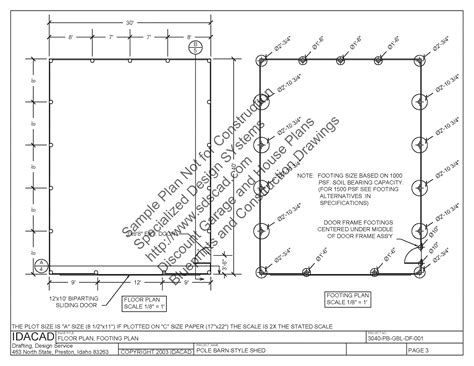 free pole barn plans blueprints pole barn plans sds plans