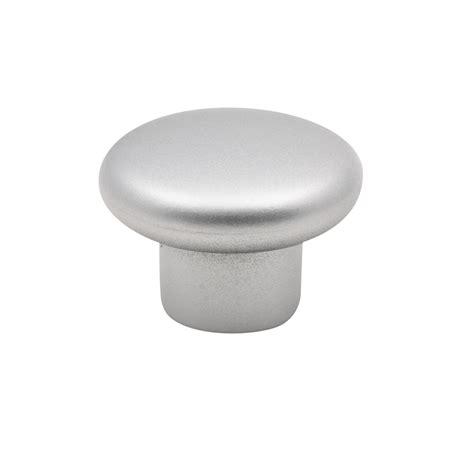 Knob Flat Chrome prestige 34mm satin chrome look flat plastic knob bunnings warehouse