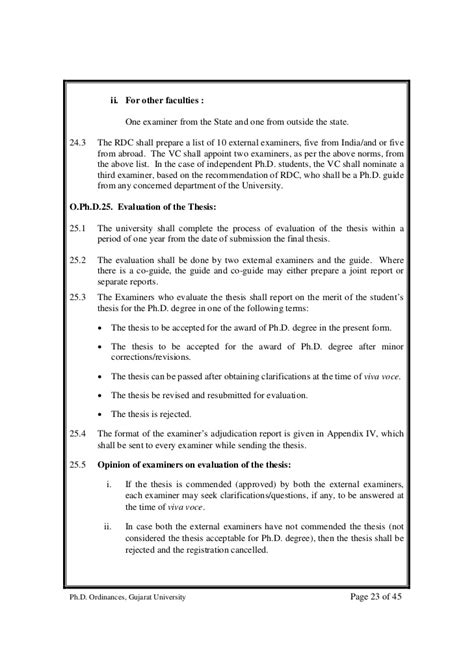 appointment letter external examiner 0900 ph d regulations and ordinances