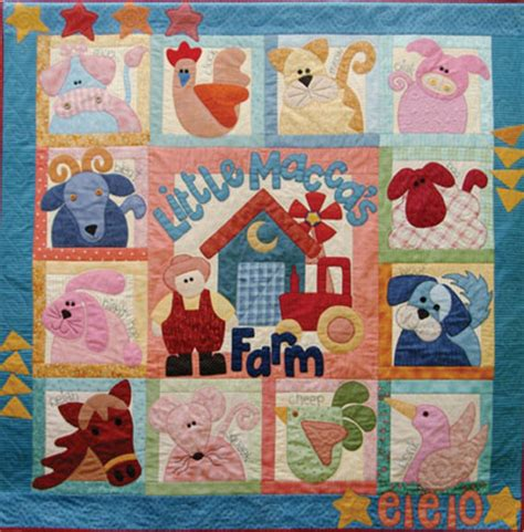 Animal Patchwork Quilt Patterns - animal appliques for quilts