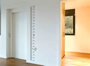 ruler wall vinyl decal sticker growth chart diy wooden ruler growth chart wall sticker by nutmeg