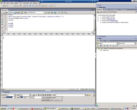 tutorial html dengan dreamweaver dreamweaver tutorial cara menilkan data dari database