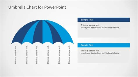 Umbrella Chart Diagram For Powerpoint Slidemodel Powerpoint Templates Size Of Slides