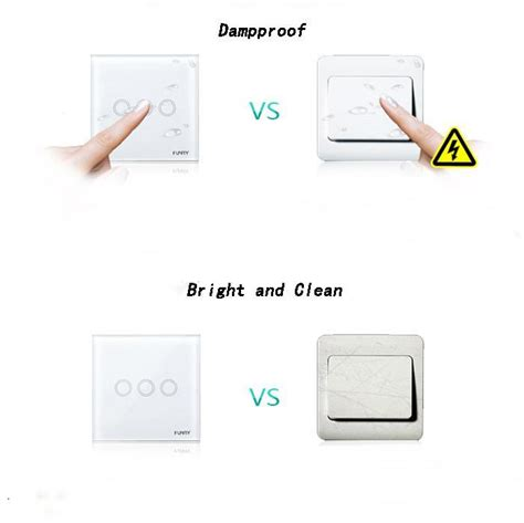 Smart Home Outomation 2 Black Funry funry touch remote light switch three intelligent