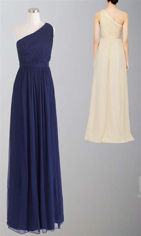 blue one navy blue one shoulder bridesmaid dress uk ksp335 163 92 00