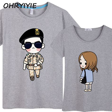 Tshirt Descendants Of The Sun Big ohryiyie descendants of the sun couples t shirt 2017 cool song joong ki t