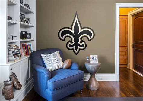 new orleans saints home decor new orleans saints logo wall decal shop fathead 174 for new