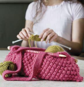 lexie barnes knitting bags borsa da lavoro con ferri annessi e suggerimento di
