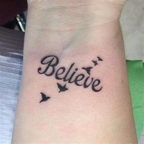 believe tattoos on wrist believe design tattoos
