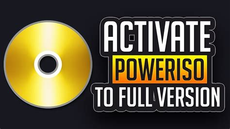 how to make poweriso full version how to activate any version of poweriso to full version