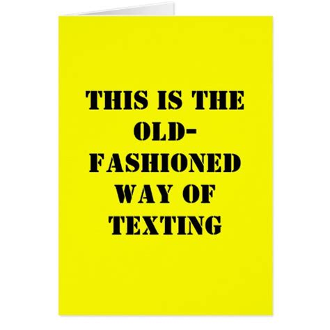 Birthday Cards For Texting Funny Birthday Card Old Fashioned Texting Zazzle