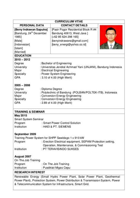 cara membuat cv indonesia 70 cv resume resume cv bahasa indonesia cv resume resume