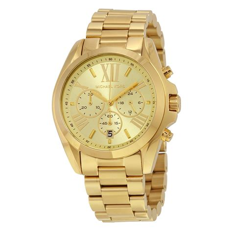 michael kors watch michael kors bradshaw chronograph gold tone unisex watch