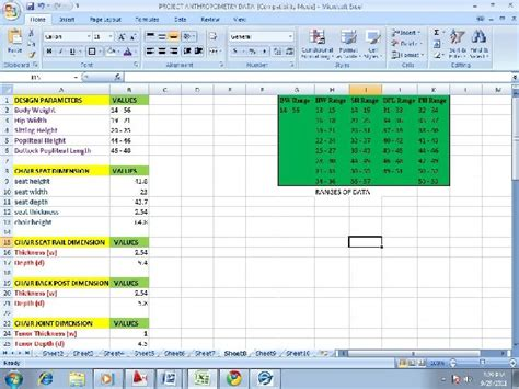 excel gui layout excel interface utilization in automation of design