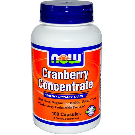 Cranberry Concentrate Pills Detox by Now Foods Cranberry Caps 100 Capsules Iherb