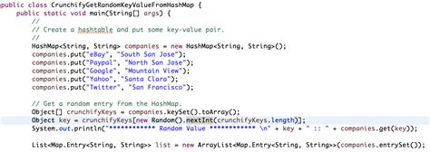 tutorial java hashmap java how to get random key value element from hashmap