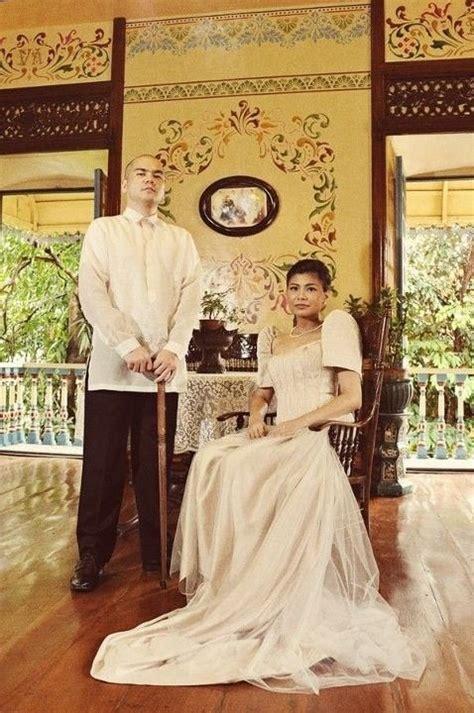 Dress Saja national costume barong tagalog for and