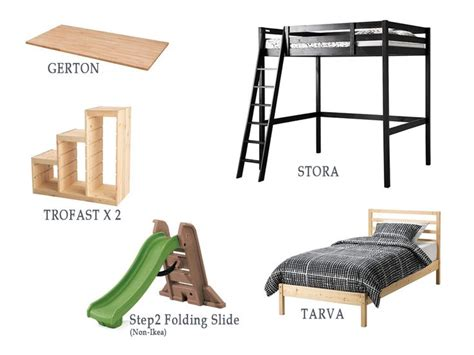 bunk bed with stairs ikea wowee bed with stairs slide and secret room ikea hackers ikea hackers
