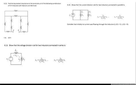 inductance questions find the equivalent inductance at the terminals a chegg