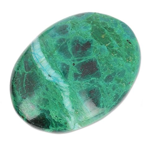 Chrysocolla In Oval oval cabochon 40x30 mm chrysocolla perles co