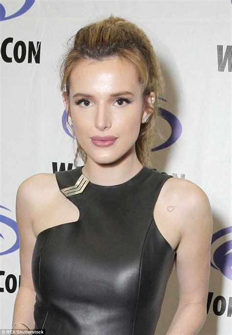 bella thorne tattoo thorne reveals in at wondercon in