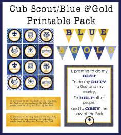 blue amp gold printable pack