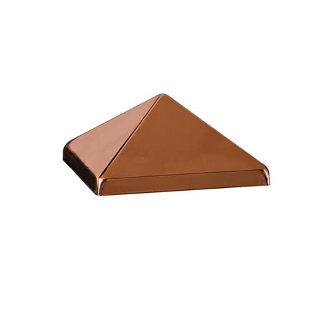 copper l post tops deckorail 4 in x 4 in copper pyramid post point 58679