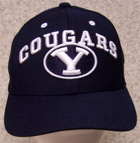 embroidered baseball cap ncaa byu brigham cougars