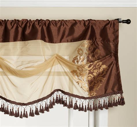 danbury curtains danbury semi sheer rod pocket panel tuck valance
