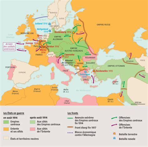 Empire Ottoman Première Guerre Mondiale by Carte Du Monde De L Europe Au Cours De La Premi 232 Re Guerre