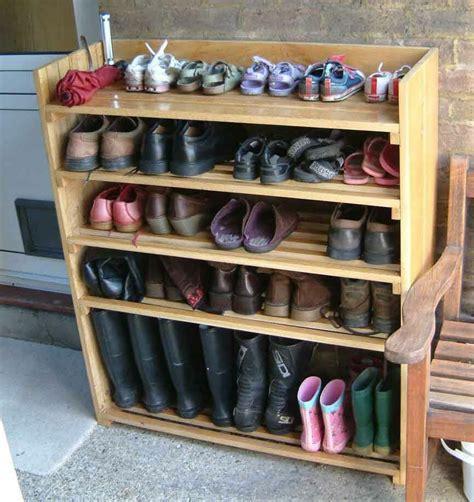 shoe rack shoe rack oak floorboards carpentry projects