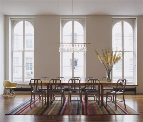 Linear Chandelier Dining Room Linear Chandelier Dining Room Dining Room Contemporary With Area Rug Windows Rocking Chair