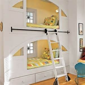 bunk beds built into wall window bed beds