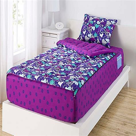 zippit bedding zipit bedding 174 hearts and lips reversible comforter set in