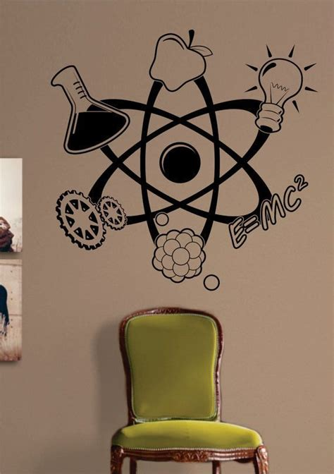 Stickers For Rooms Decoration by Science Atom Design Decal Sticker Wall Vinyl Home Room