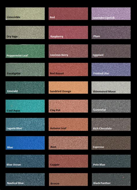 metallic color modern masters metallic plasters color chart projects