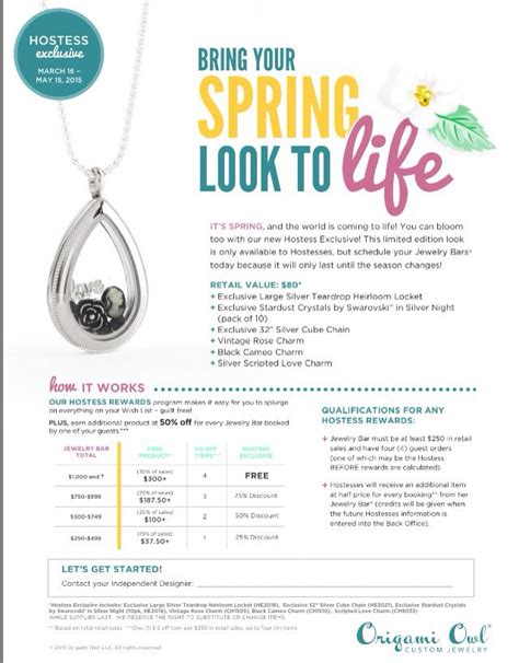 Origami Owl Hostess Special - origami owl march may hostess exclusive teardrop heritage