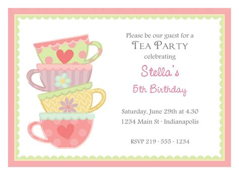 free printable high tea party invitations 12 printable afternoon