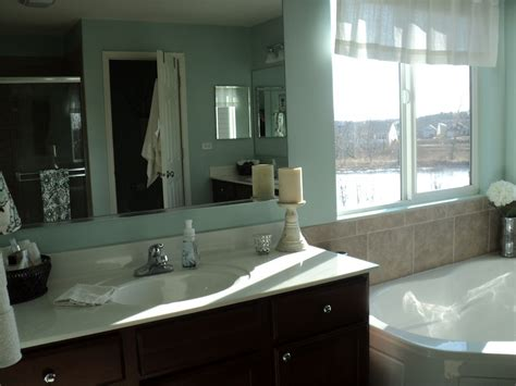 sherwin williams rainwashed bathroom all things that make a house a home loving blue in