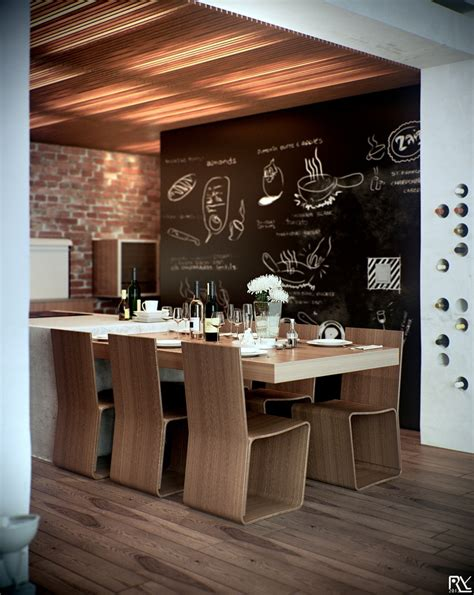 chalkboard kitchen wall ideas white decor dining areas