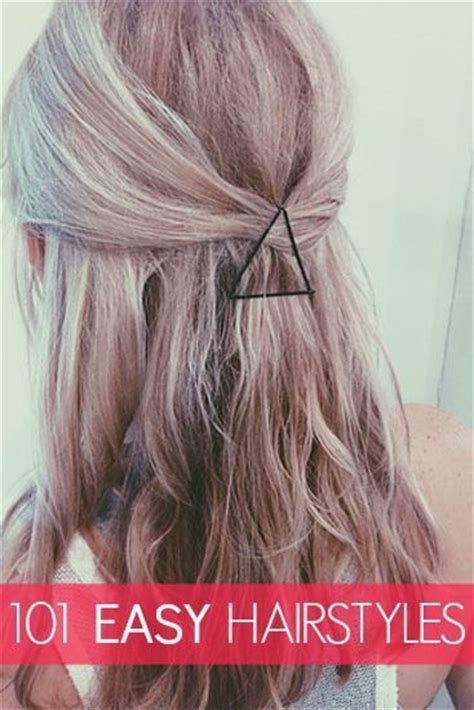 easy hairstyles on pinterest 20 simple and easy hairstyles for your daily look pretty