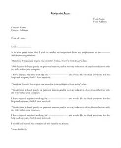 Employment Letter Of Resignation Sle Letter Of Resignation 9 Exles In Pdf Word