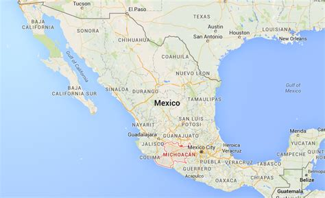 map of michoacan mexico state maps mexico helicopter crash sign of fighting between knights