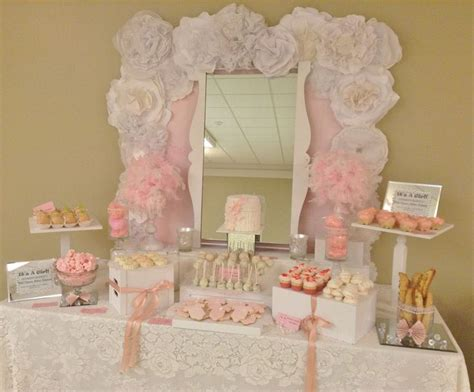baby shower sweet table pink baby shower pink dessert table pink table