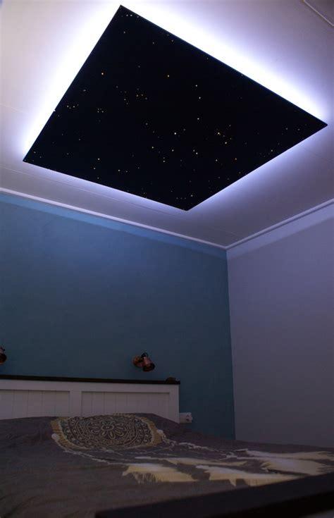 plafond ciel etoile led fibre optique chambre mycosmos