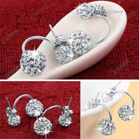 Anting Silver Earring Silver White Sterling Silver 925 3 butterfly earrings white 925 sterling silver anting wanita white jakartanotebook