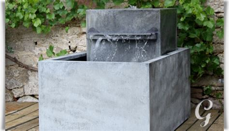 brunnen modern garten moderner zink gartenbrunnen meditazione gartentraum de