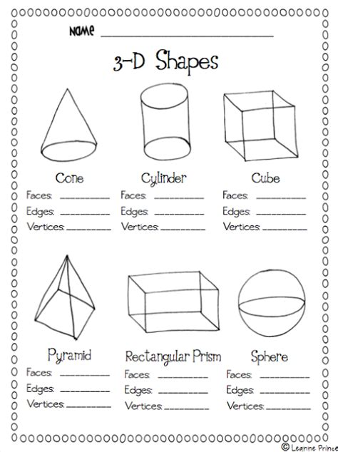 printable shapes for first grade love this printable on shapes easy practice math