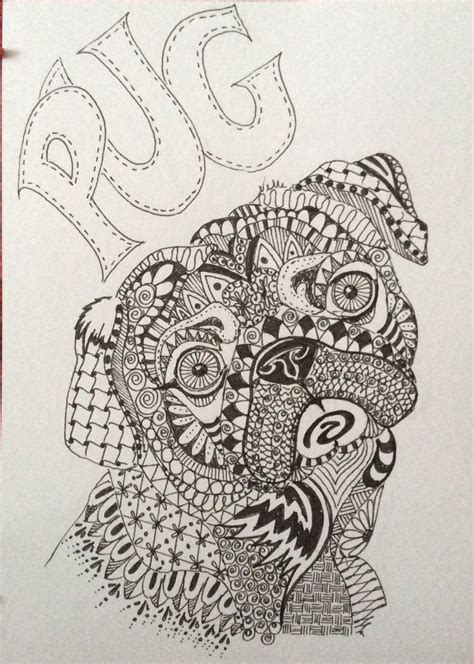 enlightened pugs coloring book books pin by inge g on inge s zentangles pug