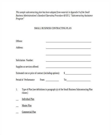 small contract template sle business contract forms 9 free documents in word